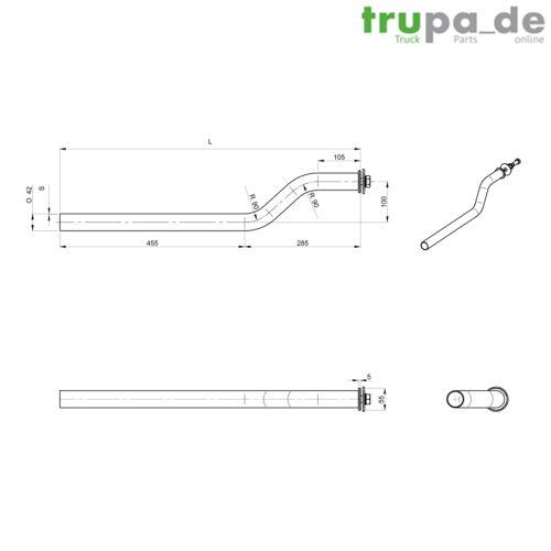 Guardabarros armazón de tubo soporte ø42 mm//750 mm camiones remolque nfz pico de pato