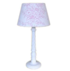 NORDIKA-Landhaus-Lampe-weiss-rosa-Tischlampe-weiss-rosa-Beistelllampe-weiss-rosa