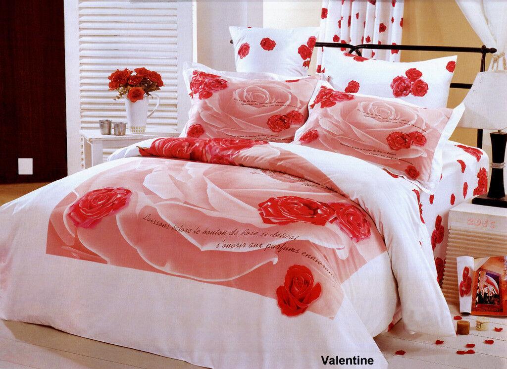 Filles Literie 4 pièces 100% Coton Motif Floral De Luxe twin taille Parure de lit LE04T