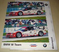 ALMS - American Le Mans Series 2001 Factory BMW M Team M3 GT-3 Press Media Info