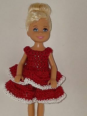 Handmade Chelse//Kelly mattel doll clothes Red