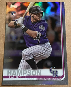 Garrett-Hampson-RC-2019-Topps-Series-1-Rookie-Rainbow-Parallel-Colorado-Rockies