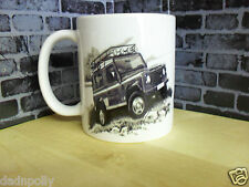LAND ROVER DEFENDER 90 / 110 -  MUG - IDEAL GIFT - PERSONALISED IF REQUIRED