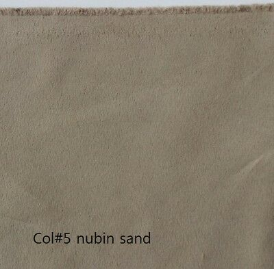 Nubian Sand Both-Side Faux Suede Fabric 280gr//mt 145cms width Off the Roll C#5
