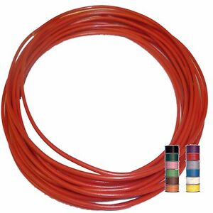 RED (+ 11 TRACERS) - 16.5A THINWALL 1mm2 Automotive Cable / Wire – per 5 metres