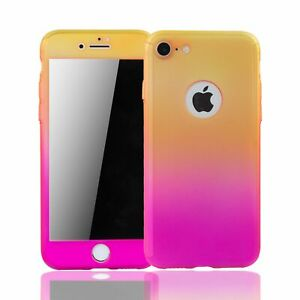 Détails sur Apple IPHONE 6/6s Plus Étui Coque Portable Protection Film Blindé Jaune/Rose