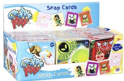 Caritatevole Schede Di Snap In Tin Box, Pirati Animali Alieno Principessa Bambini Kids Play Divertente.-mostra Il Titolo Originale