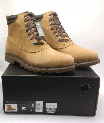 NIB Sorel Men/'s Portzman Lace Boot retail $160 size 10.5 Buff // Hawk