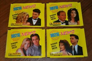 Panini-Beverly-Hills-90210-News-4-unopened-pack-4-different-design-Rare
