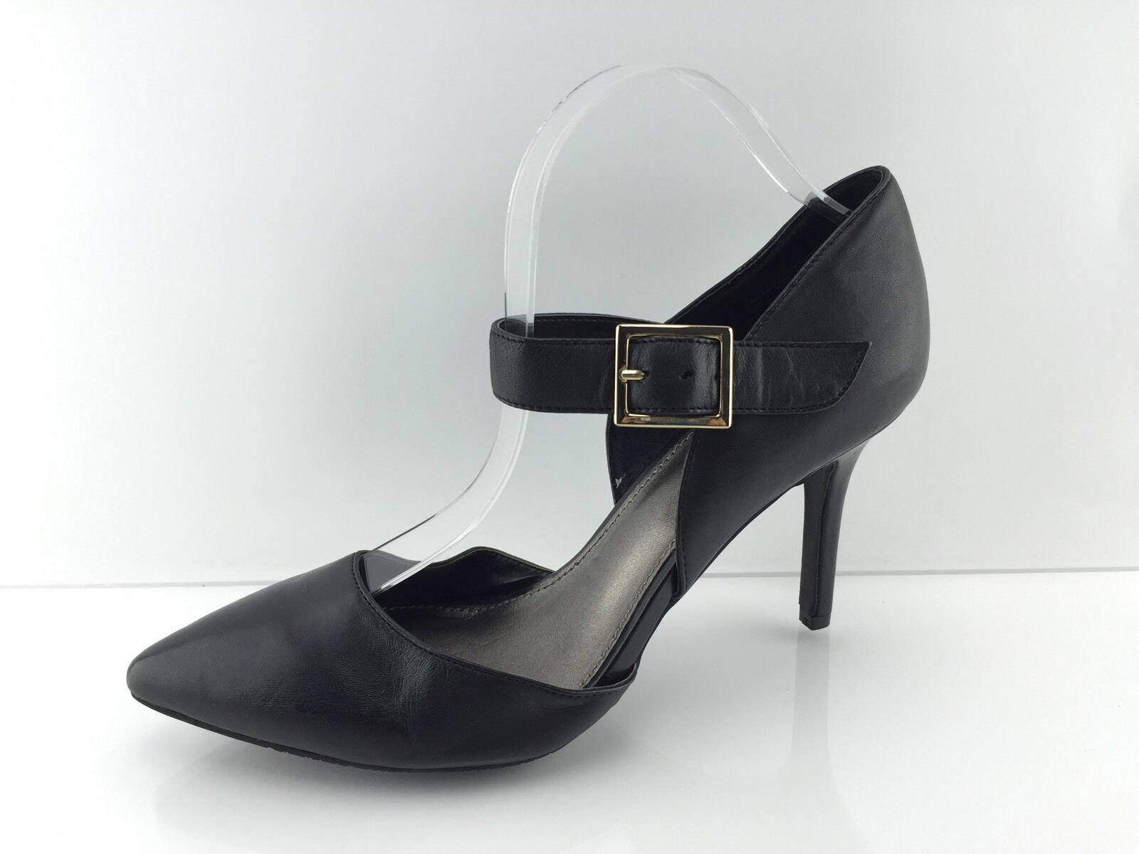 14th & Union Women's Black Leather Heels 8 M