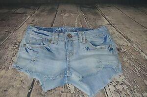 a614bd37823 Amethyst Jeans Women s Distressed Denim Short Shorts Size 5 Series ...
