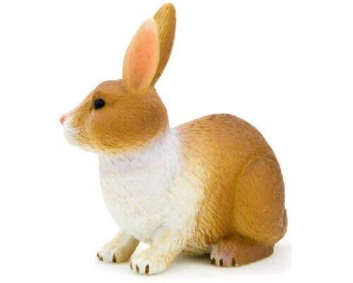 Mojo 387030 lapin marron blanc 4 cm Ferme