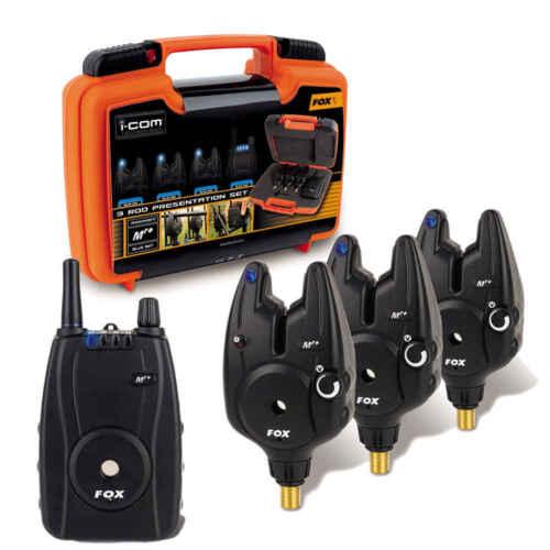 3 Rod Set Blue 3 Bissanzeiger 1 Empfänger Funkbissanzeiger Carp Fox Micron MR