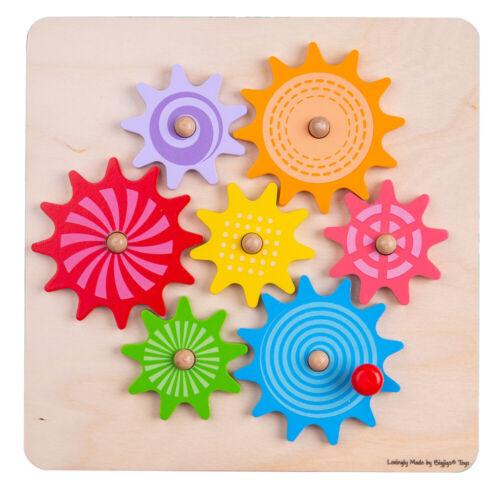 BIGJIGS Toys in legno Ingranaggi E PIGNONE Puzzle-Puzzle apprendimento educativo