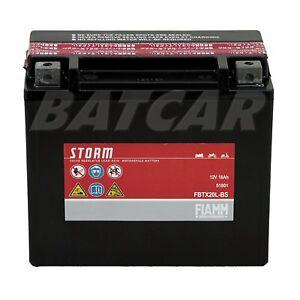 AGM Motorradbatterie FIAMM FBTX20L-BS 12V 18Ah 51801, YTX20L-BS, ETX20L-BS