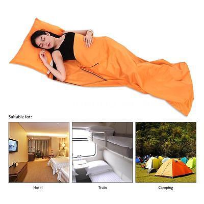 Single//Double Liner Polyester Inner Sleeping Bag Travel Host Sheet Sack Camp Bag
