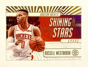 2019-20 Illusions Russell Westbrook White Gold Shining Stars SP SSP Rare Acetate
