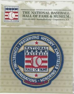 National Baseball Hall Of Fame Museum Mission Statement Patch Official Logo Ebay