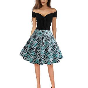 fc3edc3e1eedd8 Das Bild wird geladen Damen-Rockabilly-Petticoat-Vintage-Abendkleid -Minikleid-Party-Cocktail-