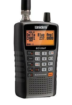 Uniden BC125AT Handheld Police Scanner 500 Alpha Tagged Channel Bearcat Portable