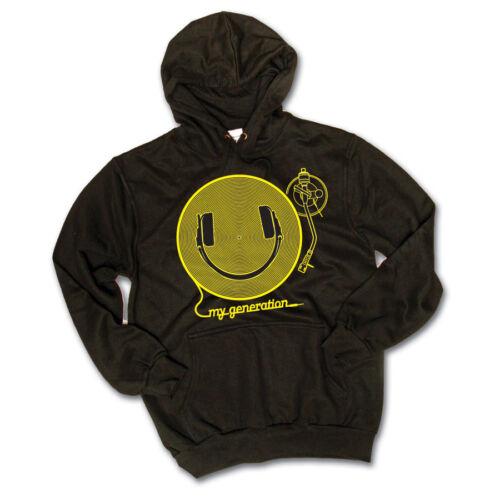 Size S-XXL NEW Technics // DMC Hoodie Happy Generation Smiley Black