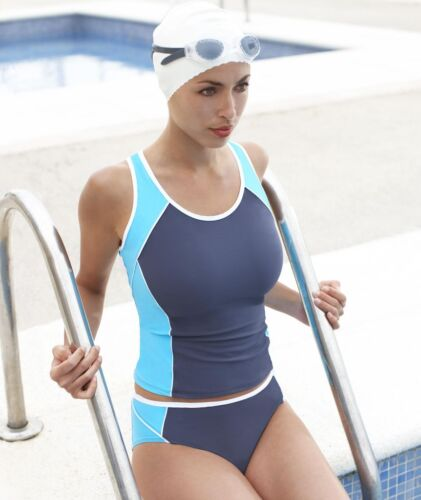 Panache SW0356 Swimwear Sports Tankini Top Slate