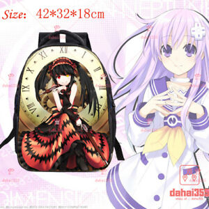 Anime DATE A LIVE Casual Cos Canvas bag Backpack Shoulders Bag Schoolbag #Z11