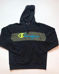 Men-s-100-Authentic-Champion-Hoodie-Size-Large-Color-Black