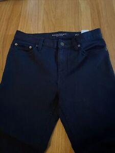 Pre-Owned Mens Banana Republic Traveler Blue Jeans Pants 29x30 slim fit