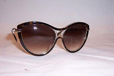 Alexander McQueen AM0021s 004 Havana /& Gold Skull Sunglasses Brown Gradient 57mm