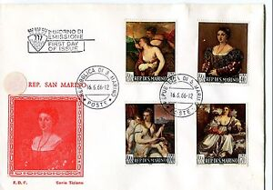 Amical 1966 Fdc San Marino Dipinto Di Tiziano First Day Cover