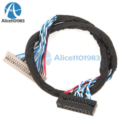 20Pin DF14 20-20 Signal 8 Bit LCD Screen Driver Board Line LVDS Screen Cable