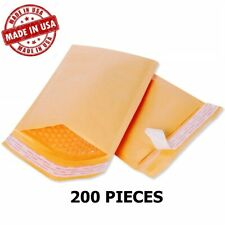 200 2 85x12 Kraft Bubble Mailers Envelopes Shipping Bags Free Shipping