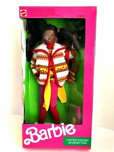 Barbie-9407-Christie-Doll-United-Colors-of-Benetton-1990-Mattel-New-in-Box