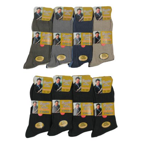 T51 Uomo 12prs Ufficio Formale 100/% Cotone Anti Batterica non elastici Calzini 6-11