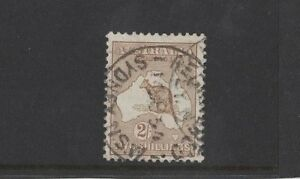 1915-Australia-Roo-2-brown-second-wmk-SG-29-used-nice-genuine-with-small-thin