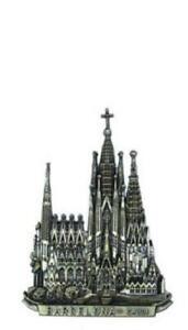 Barcelona-Gaudi-Sagrada-Familia-Metall-Magnet-Souvenir-Spanien-Espana-9-5cm