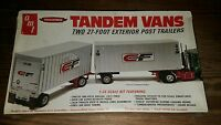 AMT Tandem Vans 1/25 Scale Kit NEW in Sealed Box consolidated Freightways