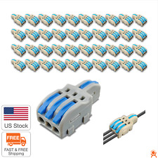 Reusable Spring Lever Terminal Block Electric Wire Cable Connectors Bag Of 50