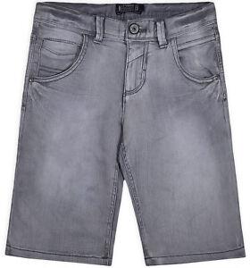 Garcons-Neuf-Gris-Short-d-039-ete-Enfant-Denim-Jeans-Longueur-Genou-Demi-Pantalon-Age-8-16-Ans