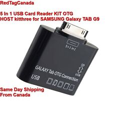 5 In 1 USB Card Reader KIT OTG HOST kitthree for SAMSUNG Galaxy TAB G9 - CANADA