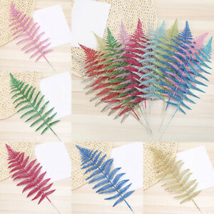 Glitter-Christmas-Flower-Leaves-Xmas-Tree-Party-Wedding-Decoration-Supplies-1pc