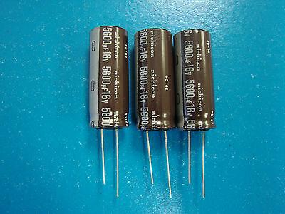 Lot of 10 Nichicon 16UT3300 UVZ1C332MHD 3300uf @ 16V Hi Temp Radial Capacitor