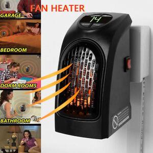 400-WATT-Handy-Heater-Mini-Heizung-Heizstrahler-fuer-die-Steckdose-in-Schwarz-NEU