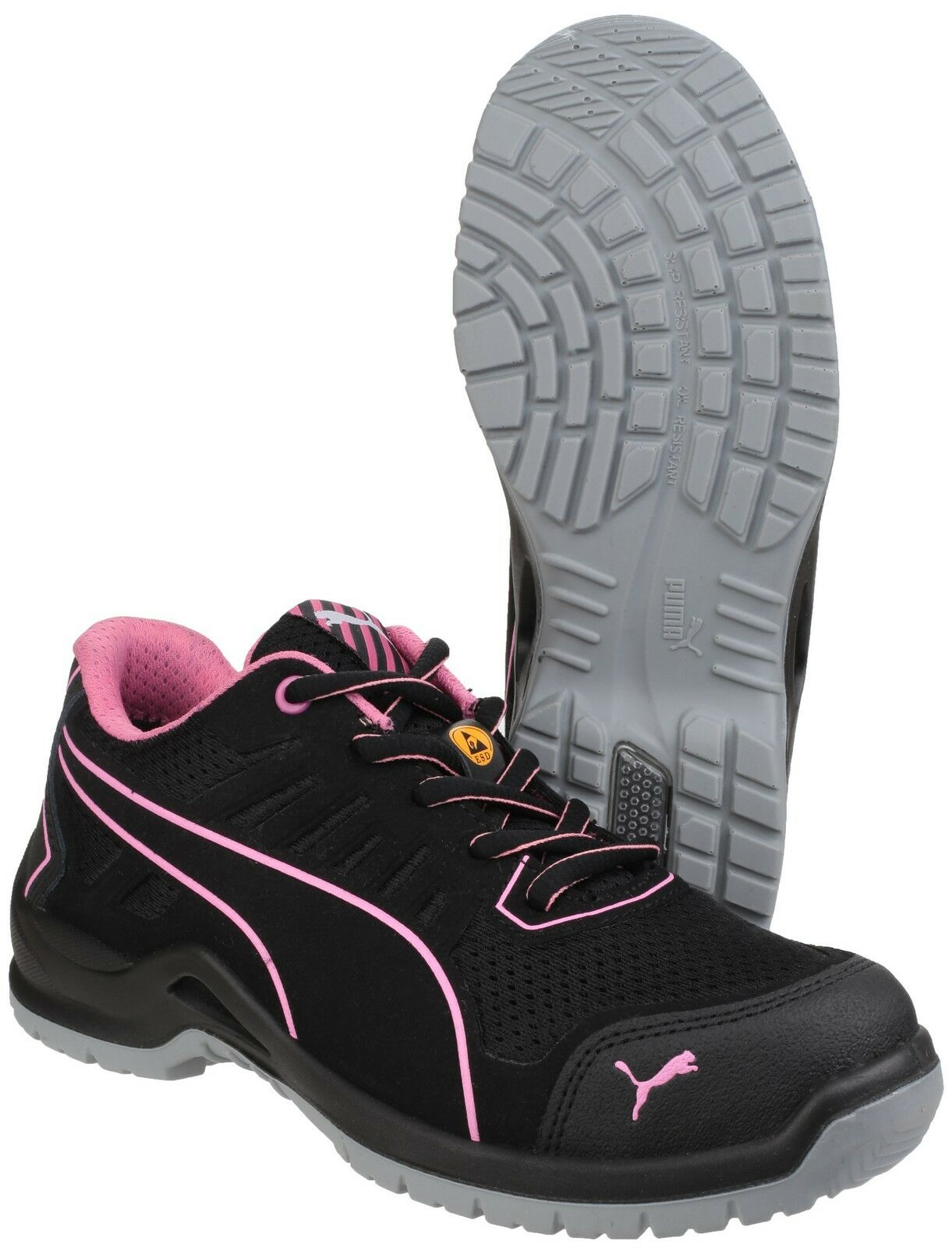 Puma Fuse TC rose Low Safety femmes Industrial Work Trainers Chaussures UK3-8