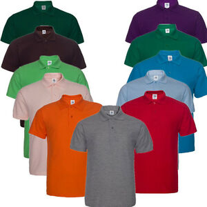 Men-039-s-Cotton-Blend-2-Button-Pique-Sport-Golf-Shirt-Casual-T-shirt