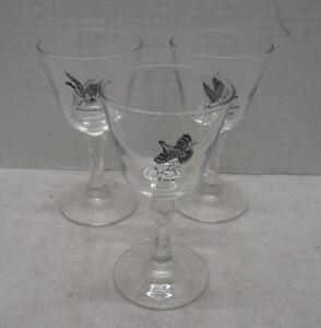 Vintage-Wine-Glasses-Canvasback-Duck-Set-of-3