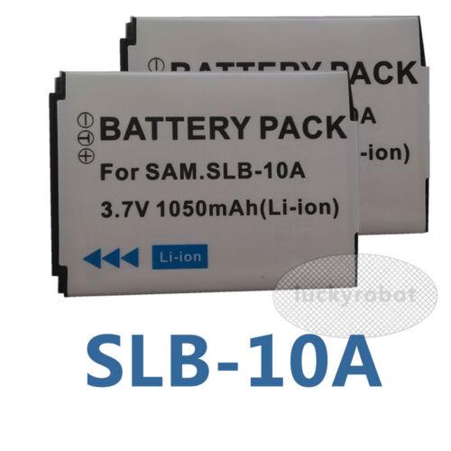 2pcs Slb-10a Slb10a Batería Para Samsung wb855f Wb850f Tl9 Sl820 Pl70 Nv9 L310w
