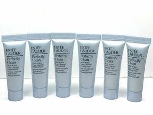 6x-Estee-Lauder-PERFECTLY-CLEAN-Multi-Action-Foam-Cleanser-Mask-0-24oz-7ml-ea