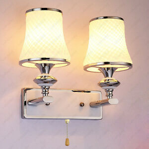 Bedside Wall Sconce With Switch : 6W/10W LED Wall Sconces Fixture Light Bulb Bedside Cafe Decor Pull Switch/N Lamp eBay
